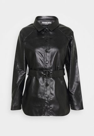ABBA - Faux leather jacket - black