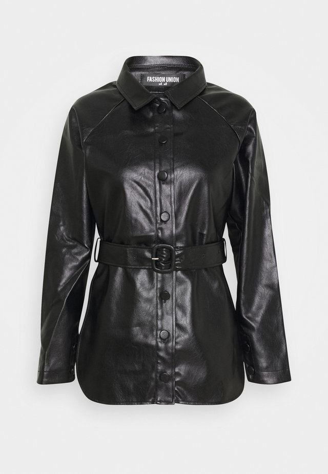 ABBA - Giacca in similpelle - black