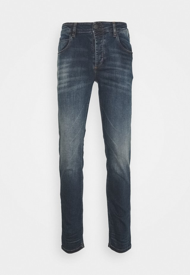 REY  - Slim fit jeans - dark-blue denim