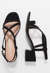 New Look Wide Fit - WIDE FIT RULIE MULTI STRAP BLOCK HEEL  - Sandaler - black - 3