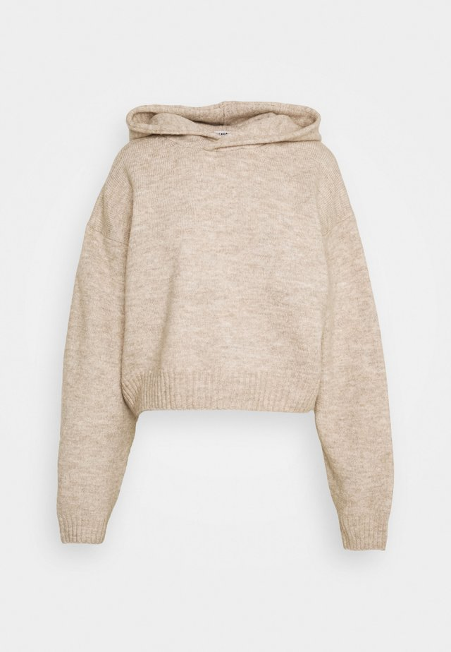 AMBRA HOODIE - Sweatshirt - mole melange