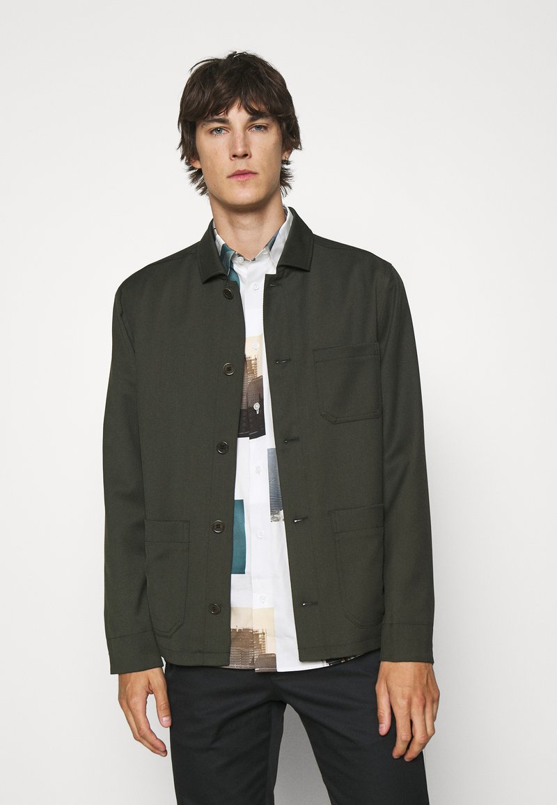 Filippa K - LOUIS GARBADINE - Summer jacket - moss green
