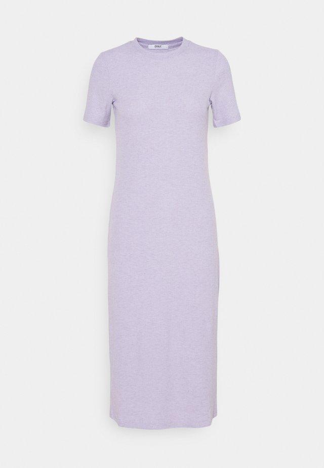 ONLZOE MIDI DRESS  - Gebreide jurk - purple heather