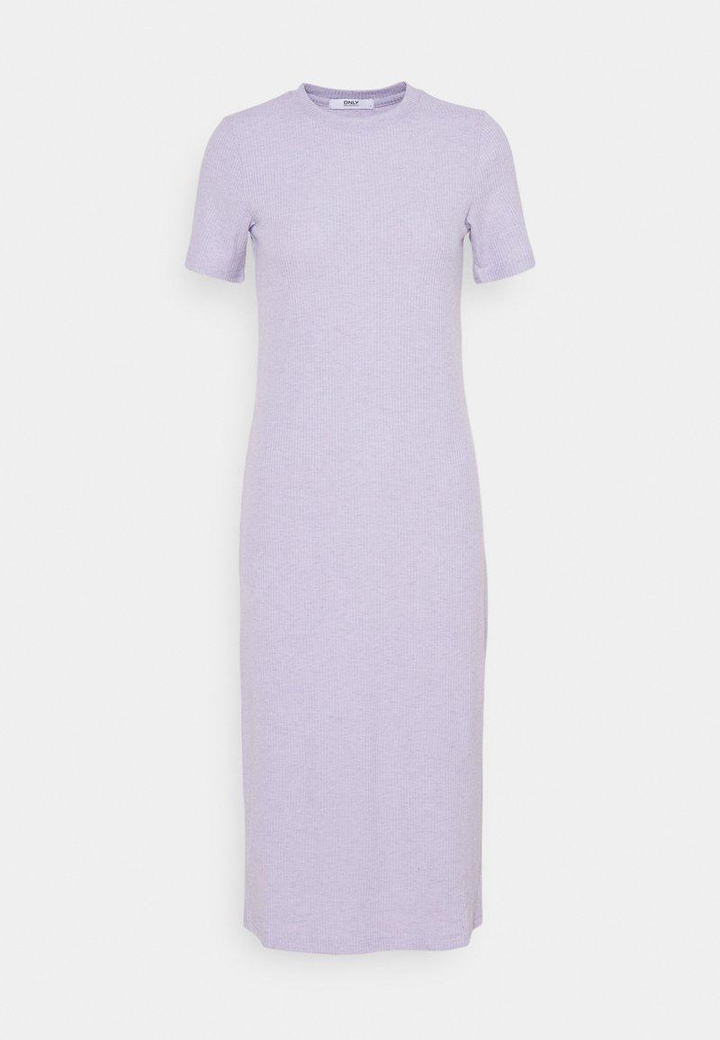 ONLY - ONLZOE MIDI DRESS  - Pletené šaty - purple heather