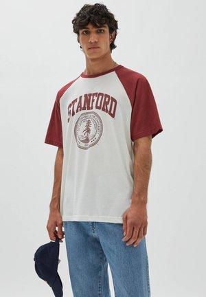 T-shirts basic - mottled dark red