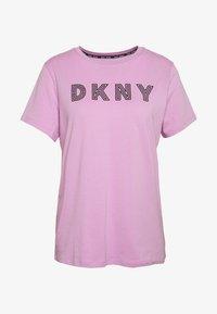 TRACK LOGO - Print T-shirt - rosebud