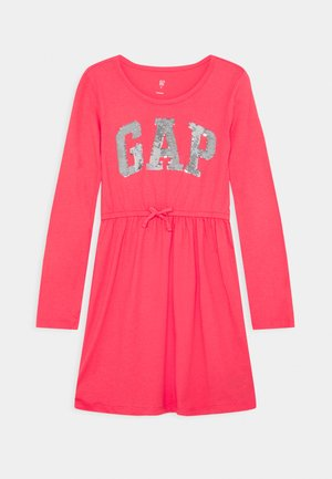 GIRLS FLIP LOGO DRESS - Žerzejové šaty - rosehip