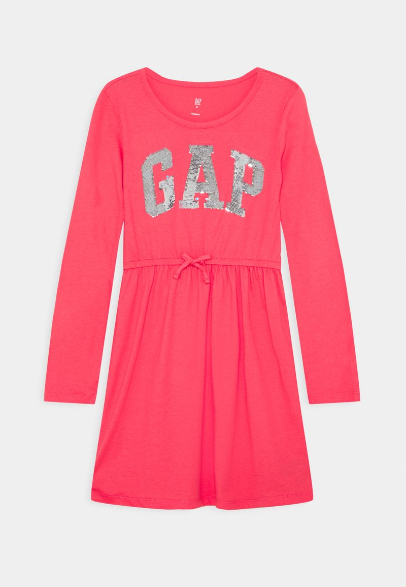 GAP - GIRLS FLIP LOGO DRESS - Jerseyklänning - rosehip