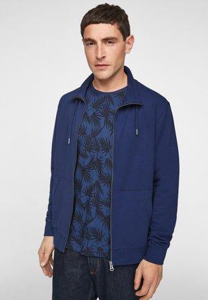 MIT STEHKRAGEN - Zip-up hoodie - dark blue