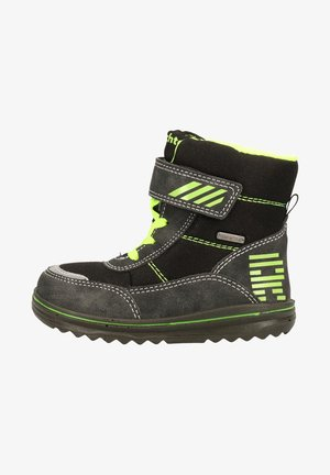 Winter boots - black/yellow