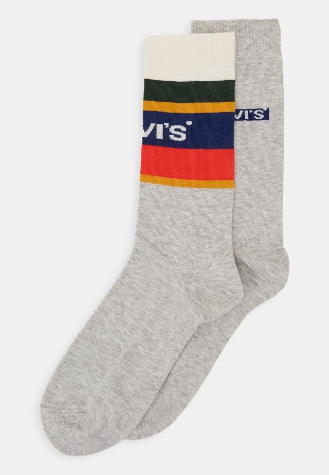 REG CUT COLOR BLOCK STRIPE 2 PACK - Socks - grey melange