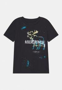 Abercrombie & Fitch - GRAFFITI PRINT LOGO - Print T-shirt - black - 0