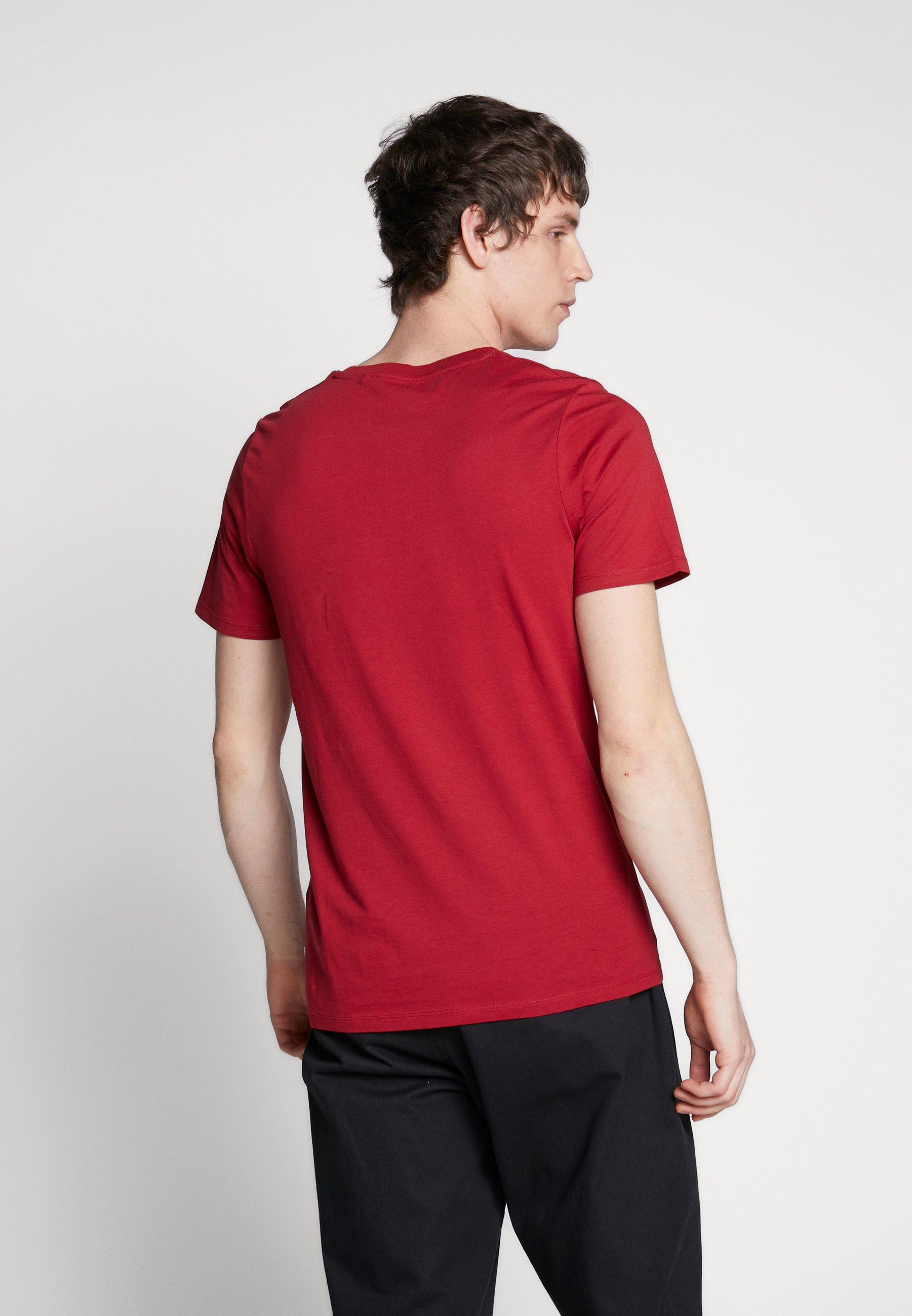 Jack & Jones JJEORGANIC - Basic T-shirt - rio red 6Y2DY
