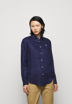 PIECE DYE - Button-down blouse - navy