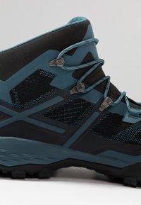 Mammut - DUCAN MID GTX - Hiking shoes - black/light poseidon - 5