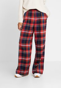 s.Oliver - WIDE LEG - Trousers - red - 0