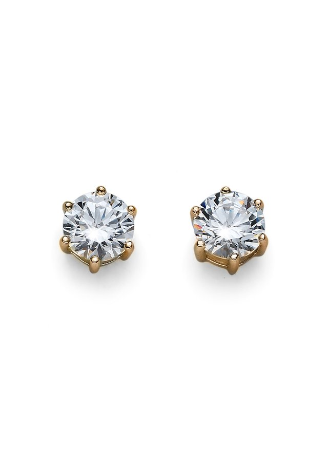 BRILLIANCE - Earrings - gold-plated / white