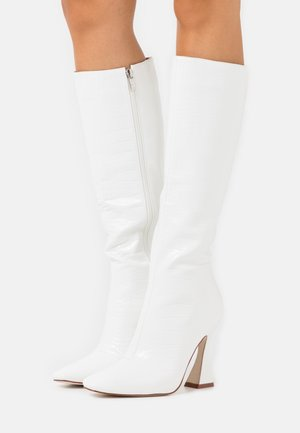 ANGELIQUE - High heeled boots - white