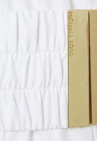 MICHAEL Michael Kors - ONE SHOULDER MIDI DRESS - Vapaa-ajan mekko - white - 8