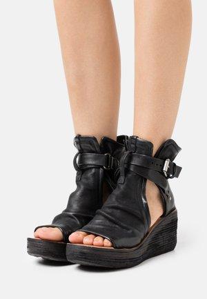 Ankle cuff sandals - nero