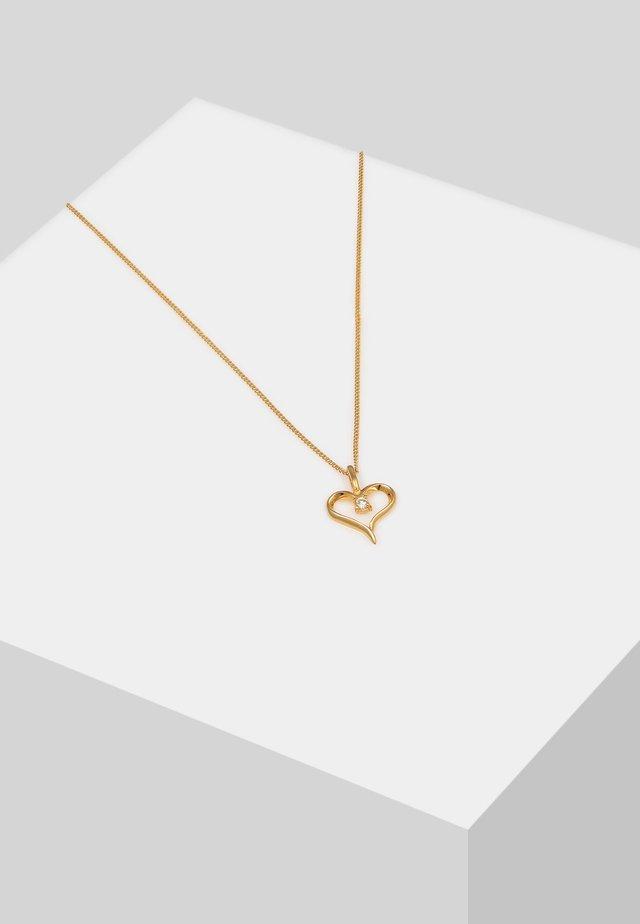 HERZ VERBUNDEN - Necklace - gold-coloured
