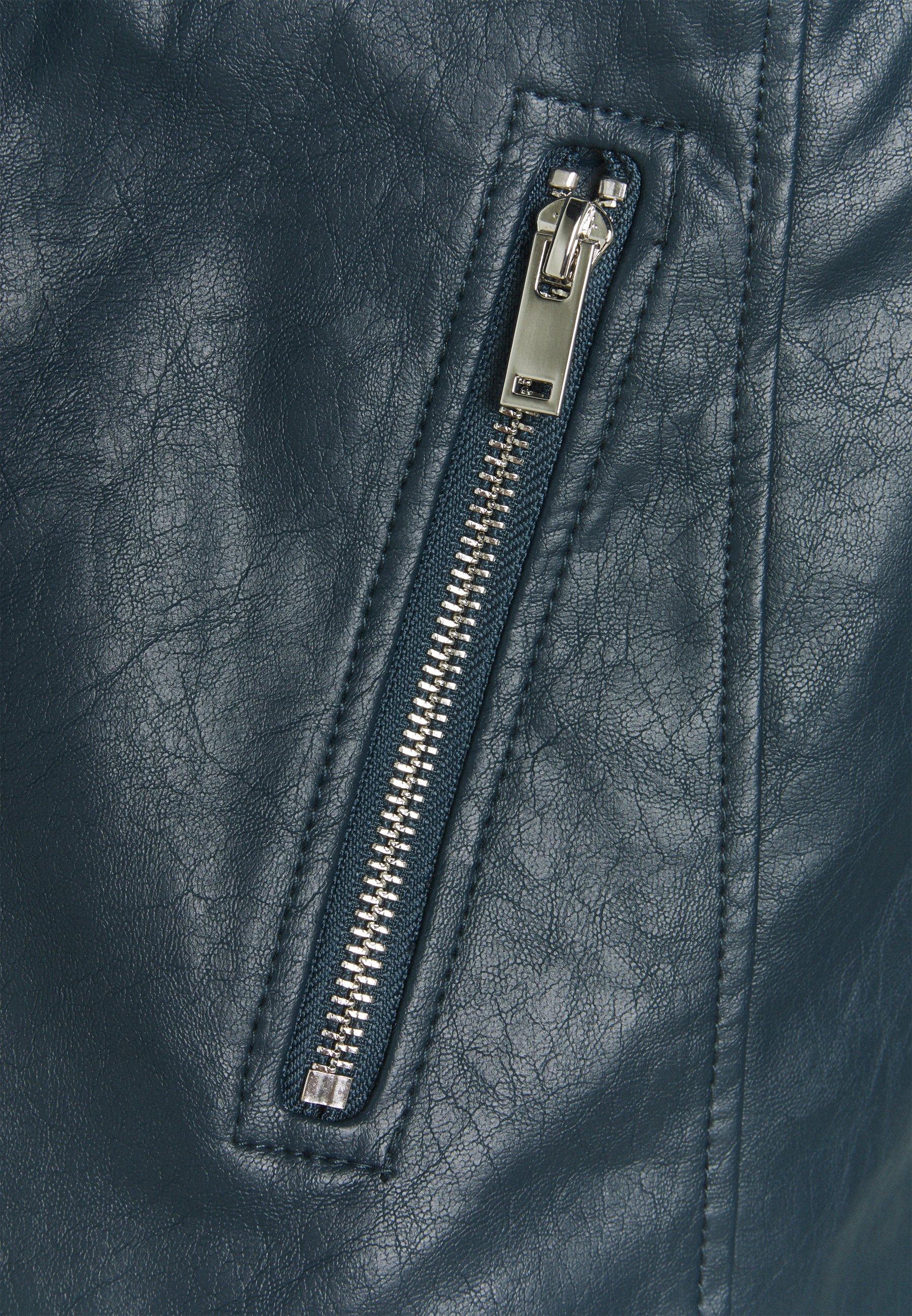 Dorothy Perkins Tall BIKER JACKET Kunstlederjacke petrol/blau