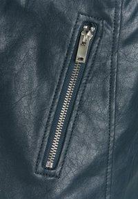 Dorothy Perkins Tall - BIKER JACKET - Faux leather jacket - petrol - 2