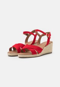 New Look Wide Fit - WIDE FIT YABBY CROSS VAMP LOW WEDGE - Alpargatas - bright red - 2