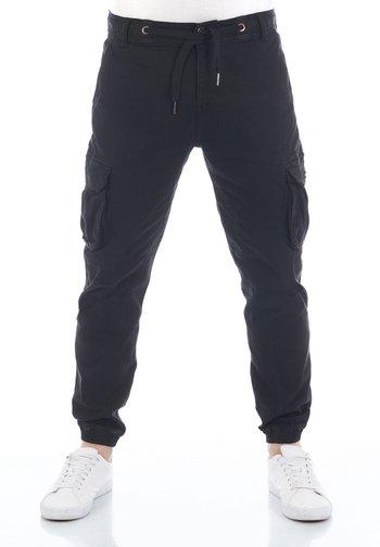 RIVHANNO - Cargo trousers - black