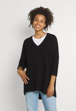 VMLEANNA V NECK LONG - Sweter - black