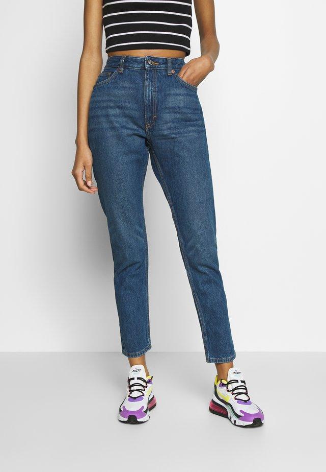 KIMOMO - Jeans a sigaretta - blue medium dusty