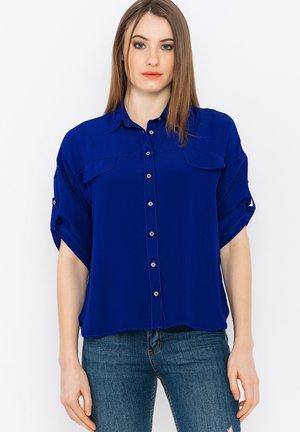 Button-down blouse - sax