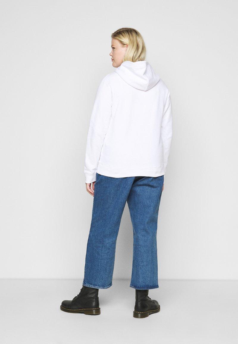 Calvin Klein Jeans Plus - GLITTER MONOGRAM HOODIE - Sweatshirt - white
