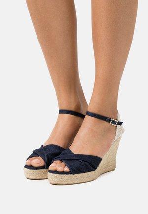 Platform sandals - denim blue