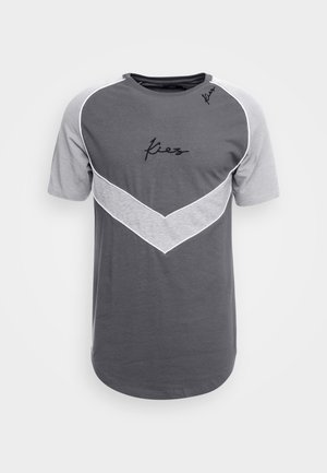 CHEVRON RAGLAN TEE - Triko s potiskem - dark grey base