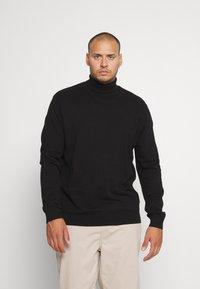 Selected Homme - SLHBERG ROLL NECK  - Jumper - black - 0