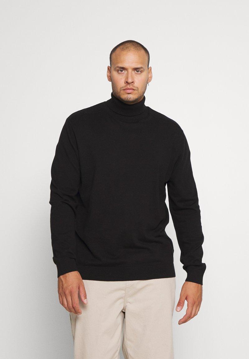 Selected Homme - SLHBERG ROLL NECK  - Jumper - black