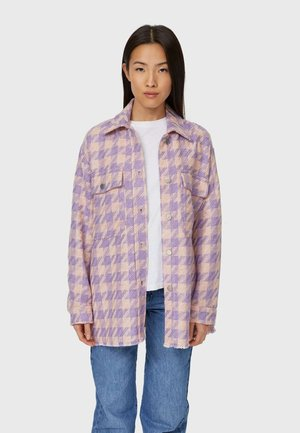 MIT AUSGEFRANSTEM SAUM  - Summer jacket - mauve
