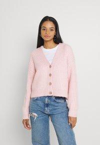 YAS - YASSUDANA CARDIGAN - Cardigan - chalk pink melange - 0