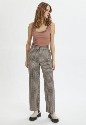 IKASZ - Trousers - chocolate brown