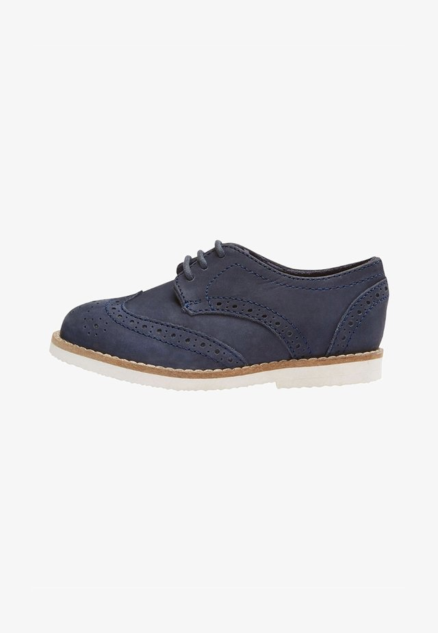 LEATHER BROGUES  - Stringate - blue