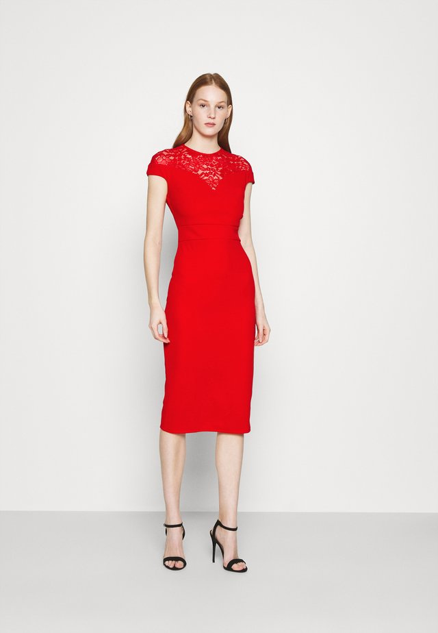 MADELINE MIDI DRESS - Sukienka etui - red