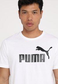 Puma - LOGO TEE - T-shirt con stampa - white - 3