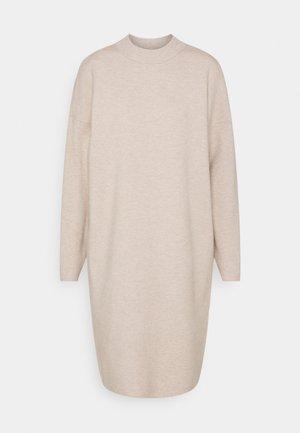 VIOLIVINJA HIGH NECK DRESS TALL - Gebreide jurk - natural melange