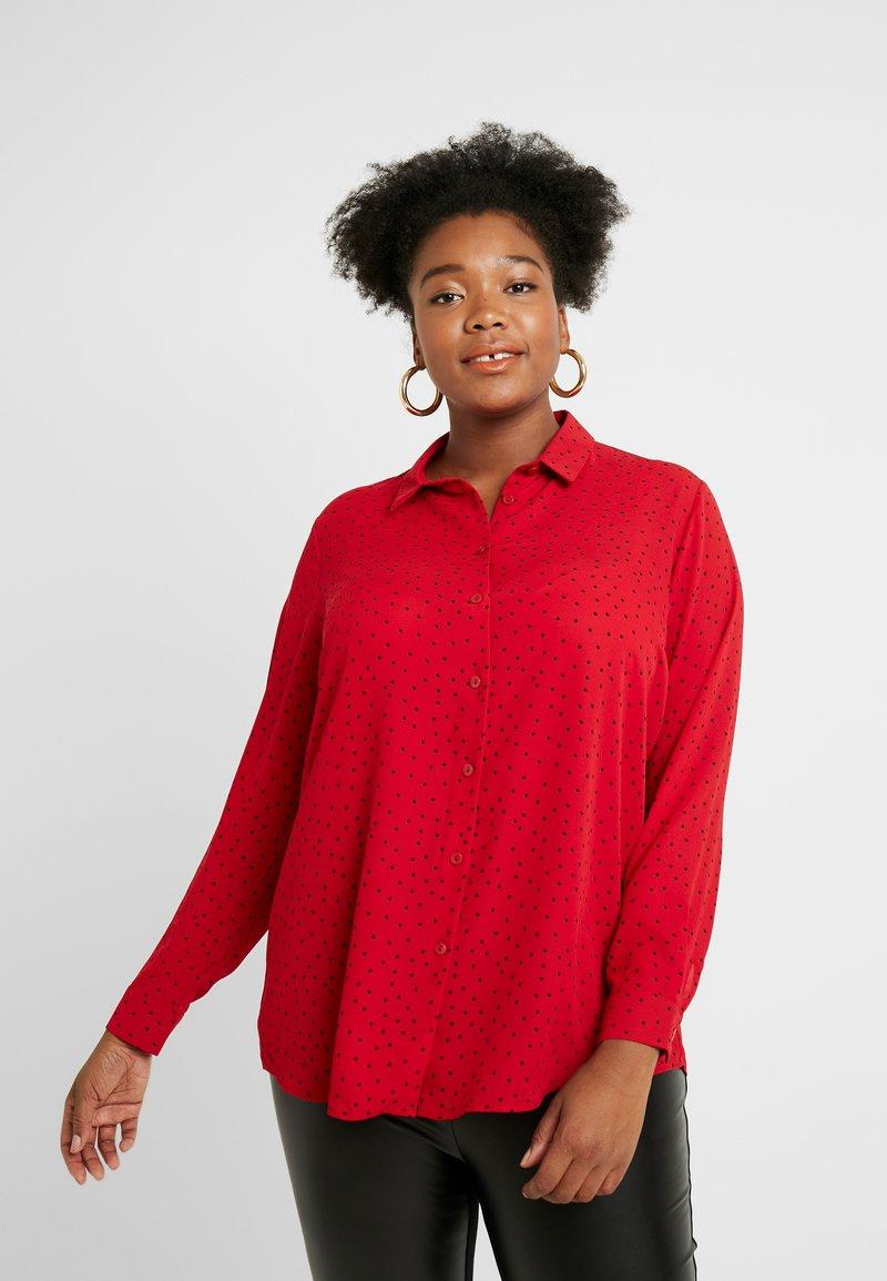 New Look Curves - PRINT - Skjortebluser - red