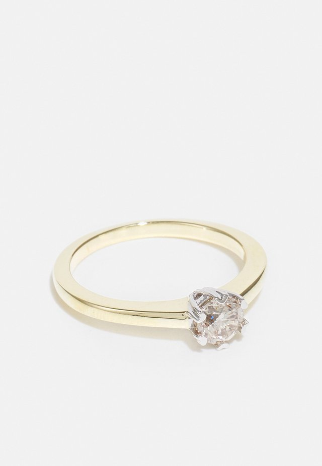 9KT YELLOW GOLD 0.5CT CERTIFIED DIAMOND SOLITAIRE RING - Anello - gold