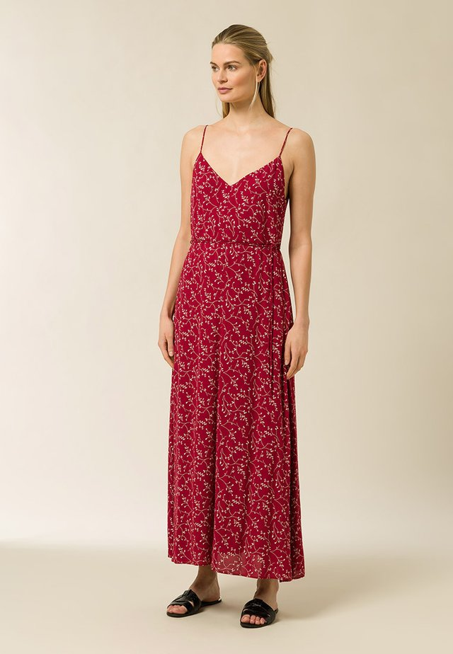 Maxi dress - aop - leaf cassis sorbet