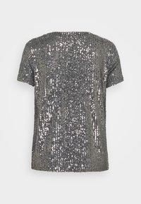 Esprit - SEQUINS TEE - T-shirt print - gunmetal - 1