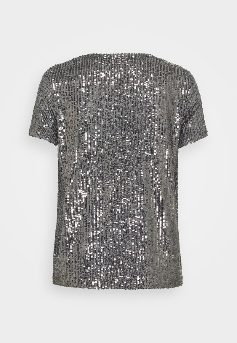 Esprit SEQUINS TEE   T Shirt print   gunmetal/dunkelgrau   Zalando.de