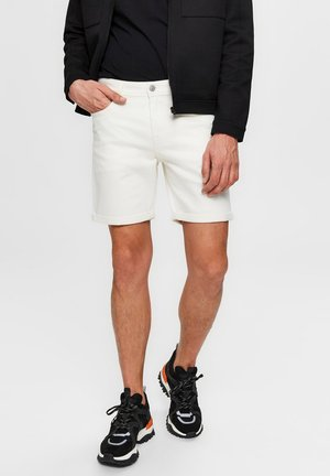 Denim shorts - white denim